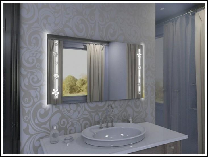 spiegel mit led beleuchtung und radio beleuchthung. Black Bedroom Furniture Sets. Home Design Ideas