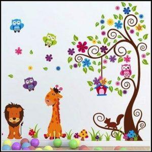 Wandtattoo Baum Kinderzimmer Eule Kinderzimme House Und Dekor