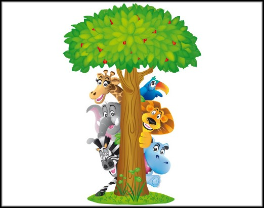 Wandtattoo Kinderzimmer Dschungel Safari Kinderzimme House Und