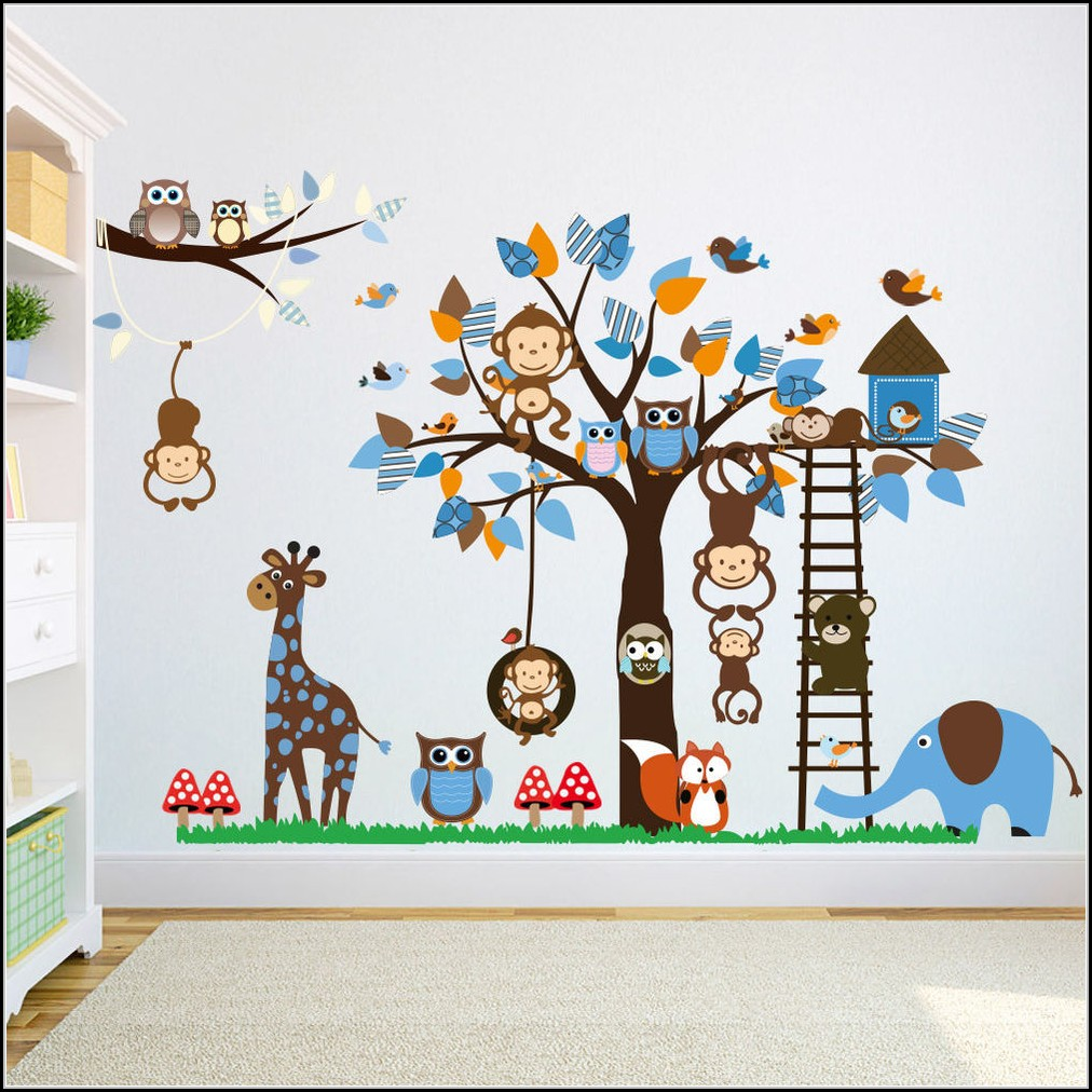 Wandtattoo kinderzimmer tiere kinderzimme house und for Wandtattoo kinderzimmer tiere