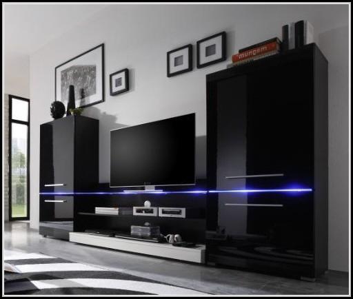 wohnwand mit led beleuchtung beleuchthung house und dekor galerie qmkjbxqkk5. Black Bedroom Furniture Sets. Home Design Ideas