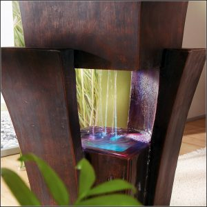 Zimmerbrunnen Maya Mit Led Beleuchtung In 4 Farben