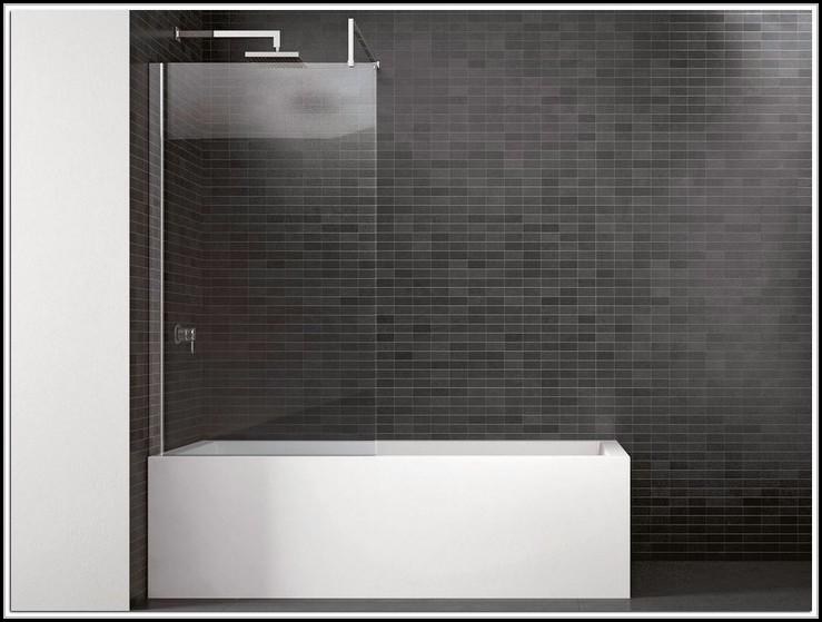 Duschwand Badewanne Glas Fest