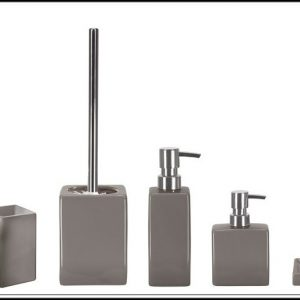 Badezimmer Accessoires Set Grau