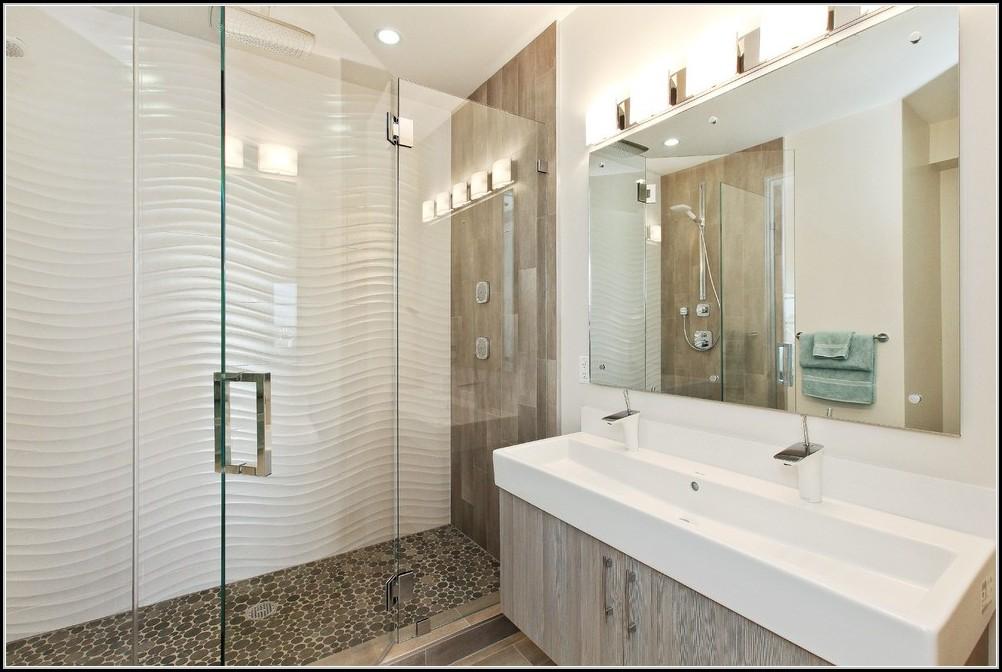 Badezimmer Spiegelschrank Holz Wei