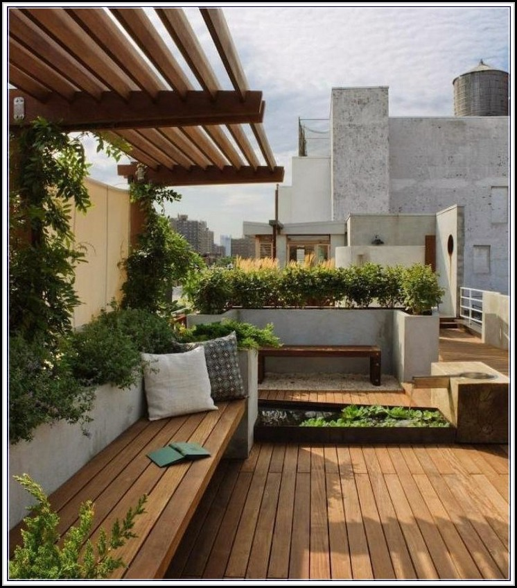 Balkon Bambus Sichtschutz Obi