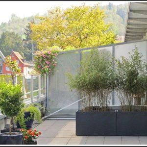 Balkon Sichtschutz Bambus Anbringen