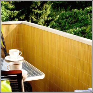 Balkon Sichtschutz Bambus Obi