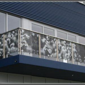 Balkon Sichtschutz Pvc Anbringen