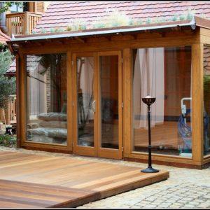 Balkonberdachung Holz Bausatz