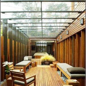 Balkonberdachung Holz Glas