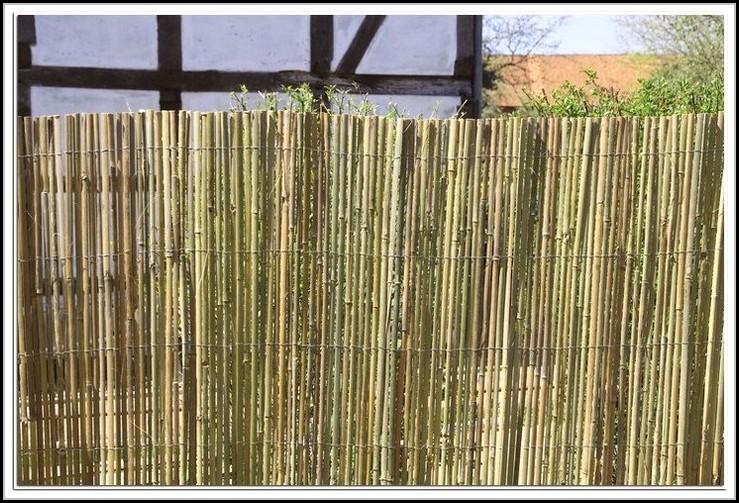 Bambus Sichtschutz Balkon Anbringen