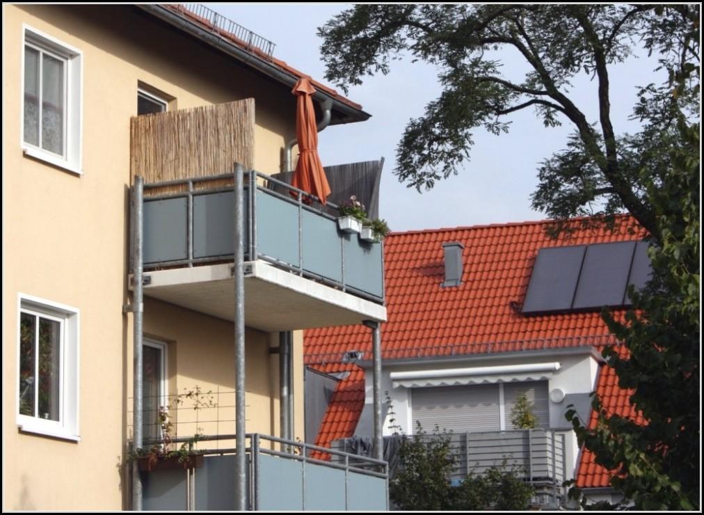 Seiten Sichtschutz Balkon Holz