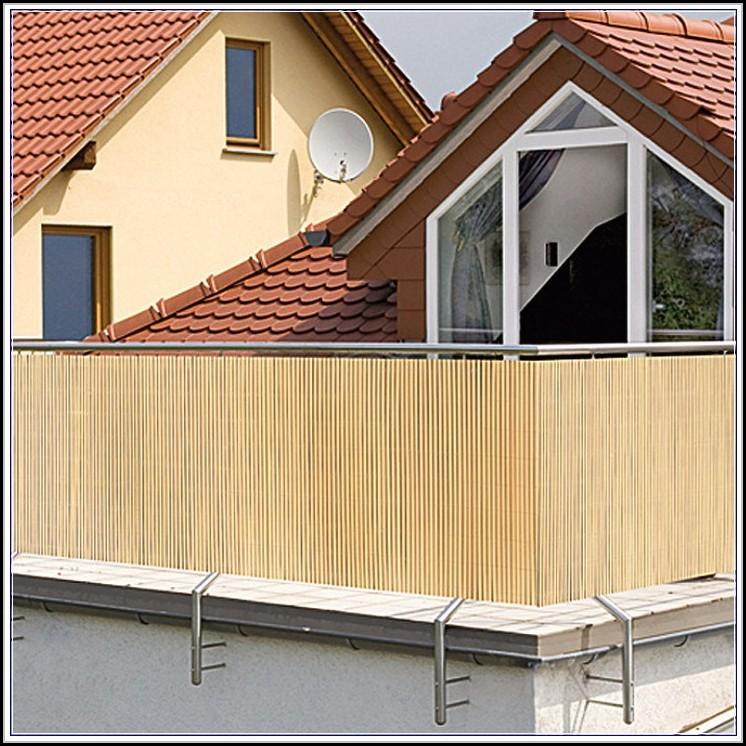 Sichtschutz Balkon Bambus Befestigen Balkon House Und Dekor
