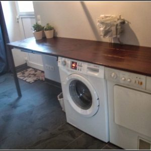 Waschmaschine Unter Arbeitsplatte Schieben