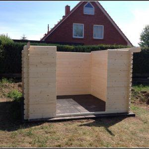 Aufbau Gartenhaus Obi