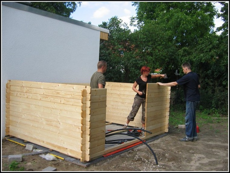 Bauanleitung Gartenhaus Karibu