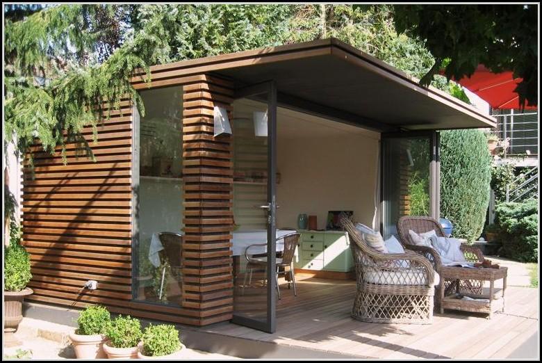 Design Gartenhaus Aluminium