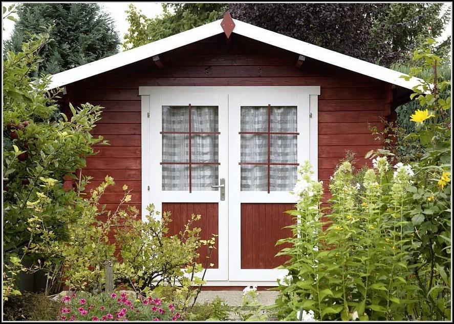 Farbe Gartenhaus Schwedenrot