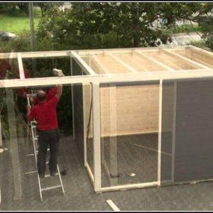 Flachdach Gartenhaus Selber Bauen