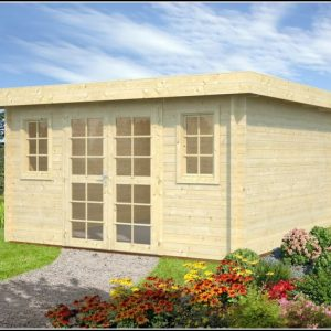 Gartenhaus 40mm Pultdach