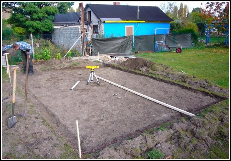 Gartenhaus Bauen Fundament