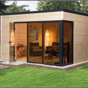 Gartenhaus Design Flachdach