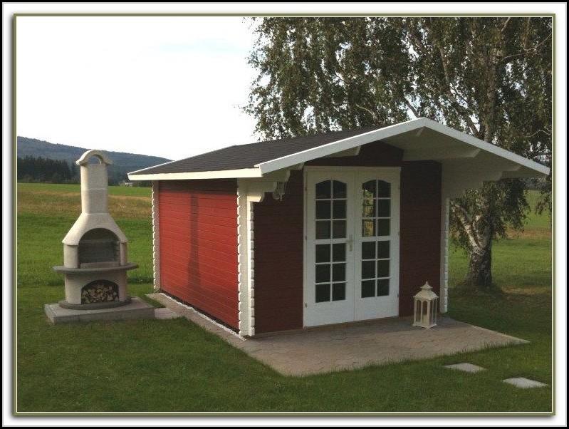 Gartenhaus Farbe Schwedenrot