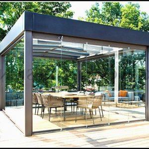 Gartenhaus Glas Holz