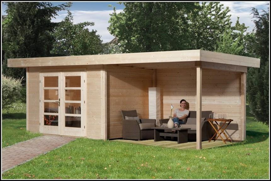 Gartenhaus Holz Flachdach Modern