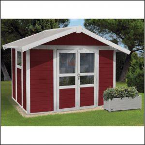 Gartenhaus Kunststoff Rot