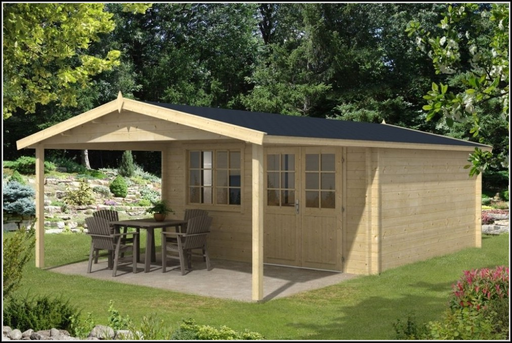 Gartenhaus Mit Berdachter Terrasse