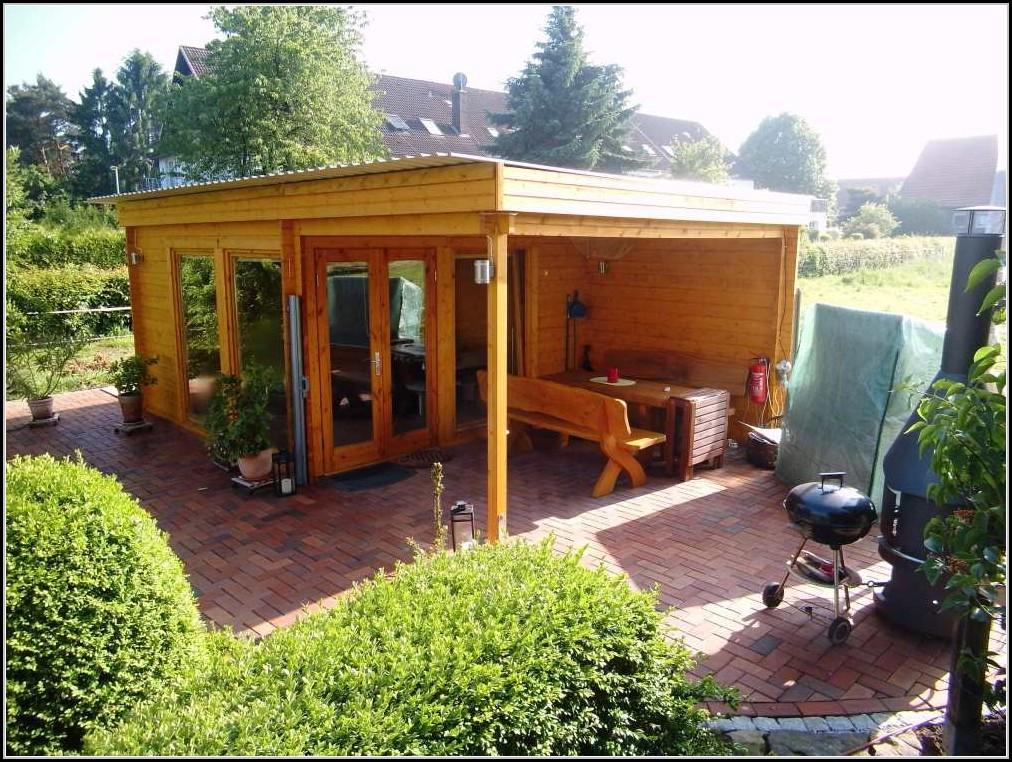 Gartenhaus Mit Flachdach Und Terrasse
