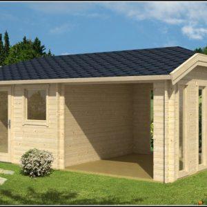 Gartenhaus Mit Vordach Und Terrasse