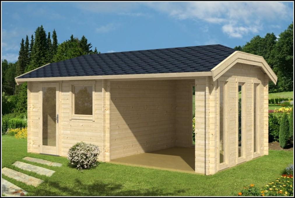 Gartenhaus Mit Vordach Und Terrasse Gartenhaus House Und Dekor