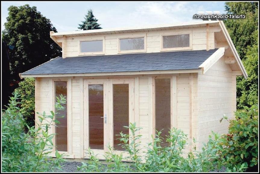 Gartenhaus Stufendach 40mm