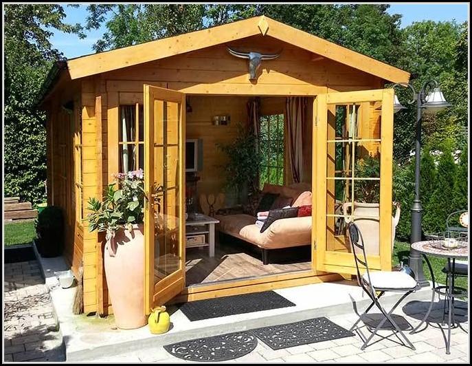 Holz Gartenhaus Mit Aufbauservice