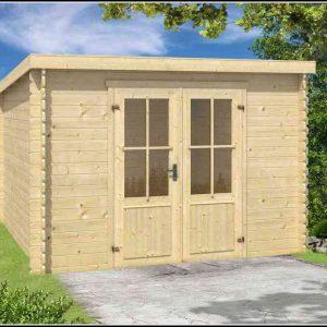 Holz Gartenhaus Pultdach