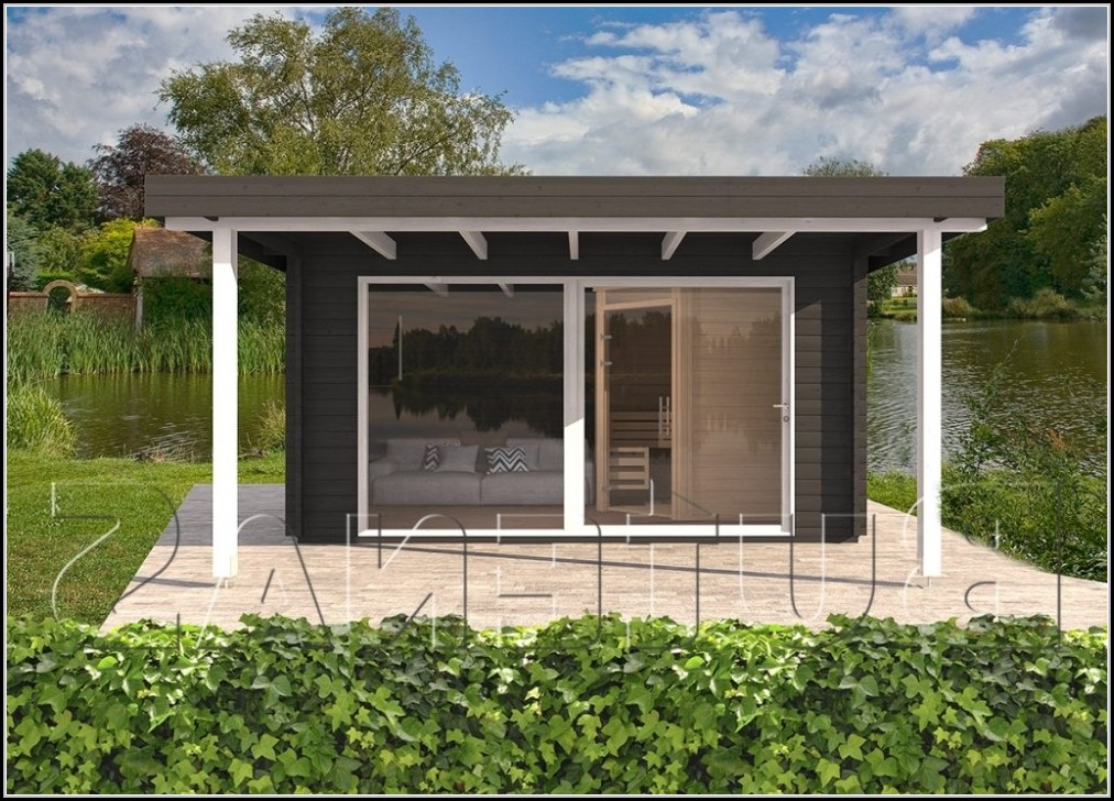Massives Gartenhaus Bauen
