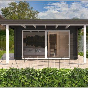 Massives Gartenhaus Stein