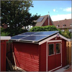 Mini Solaranlage Gartenhaus