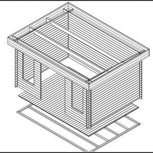 Modernes Gartenhaus Bausatz