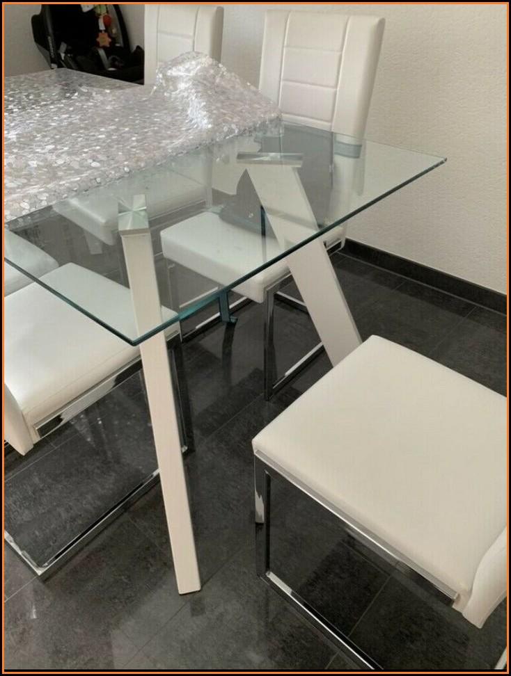 Esszimmer Glastisch Mit Stühlen