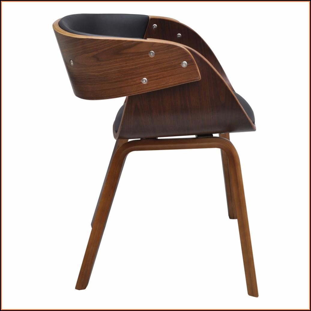 Esszimmerstühle Leder Holz