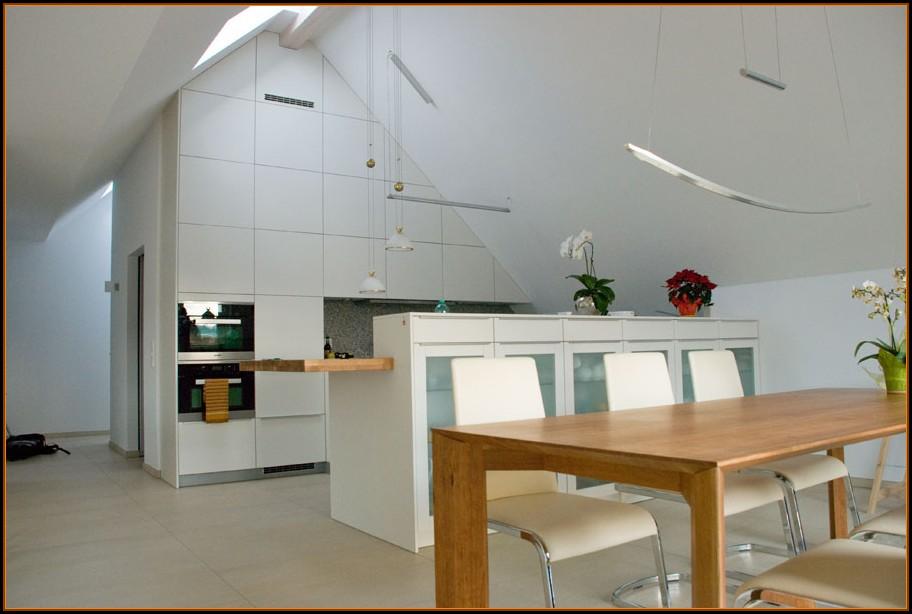 Ideen Küchen Dachschrägen