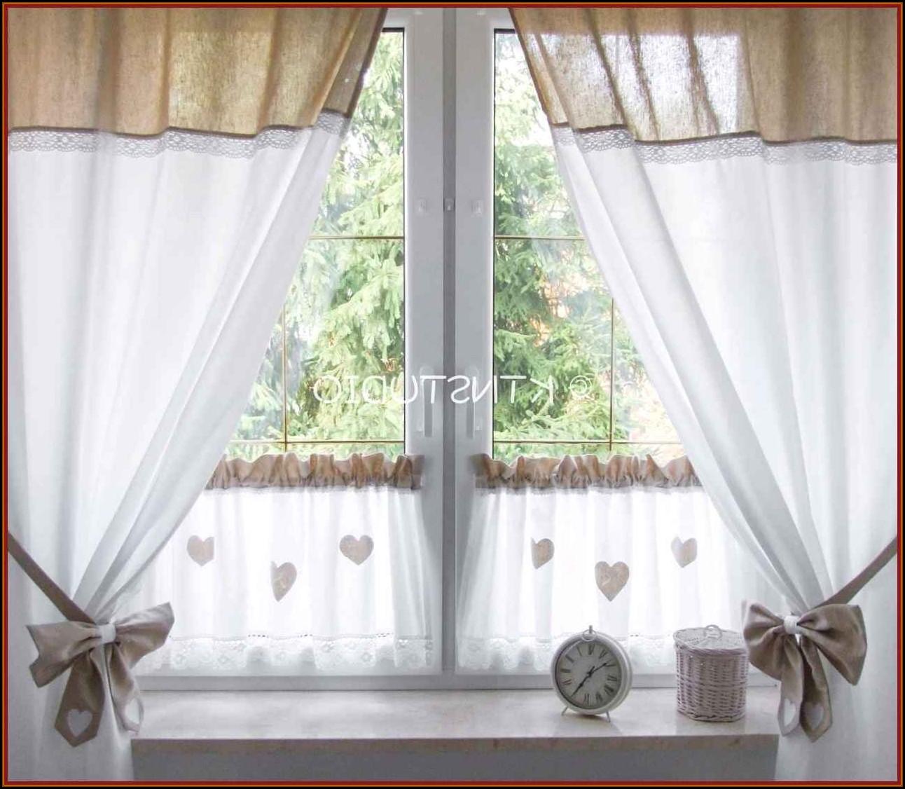 Ideen Küchenfenster Gardine