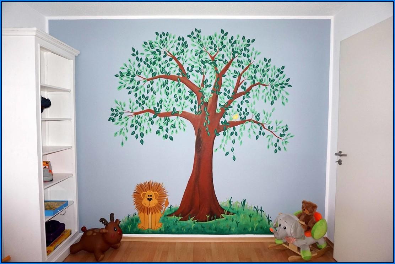 Babyzimmer Baum Gemalt