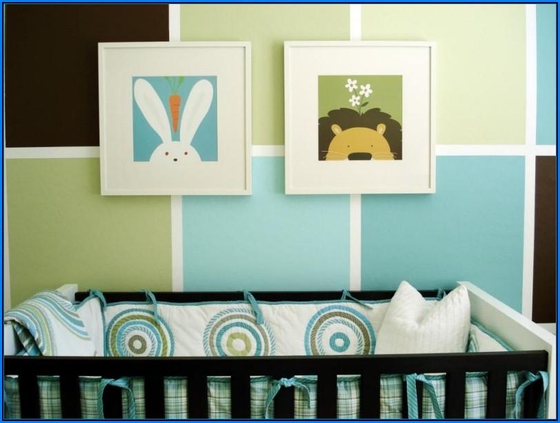 Babyzimmer Blau Grün
