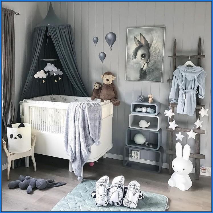 Babyzimmer Deko Blau Grau