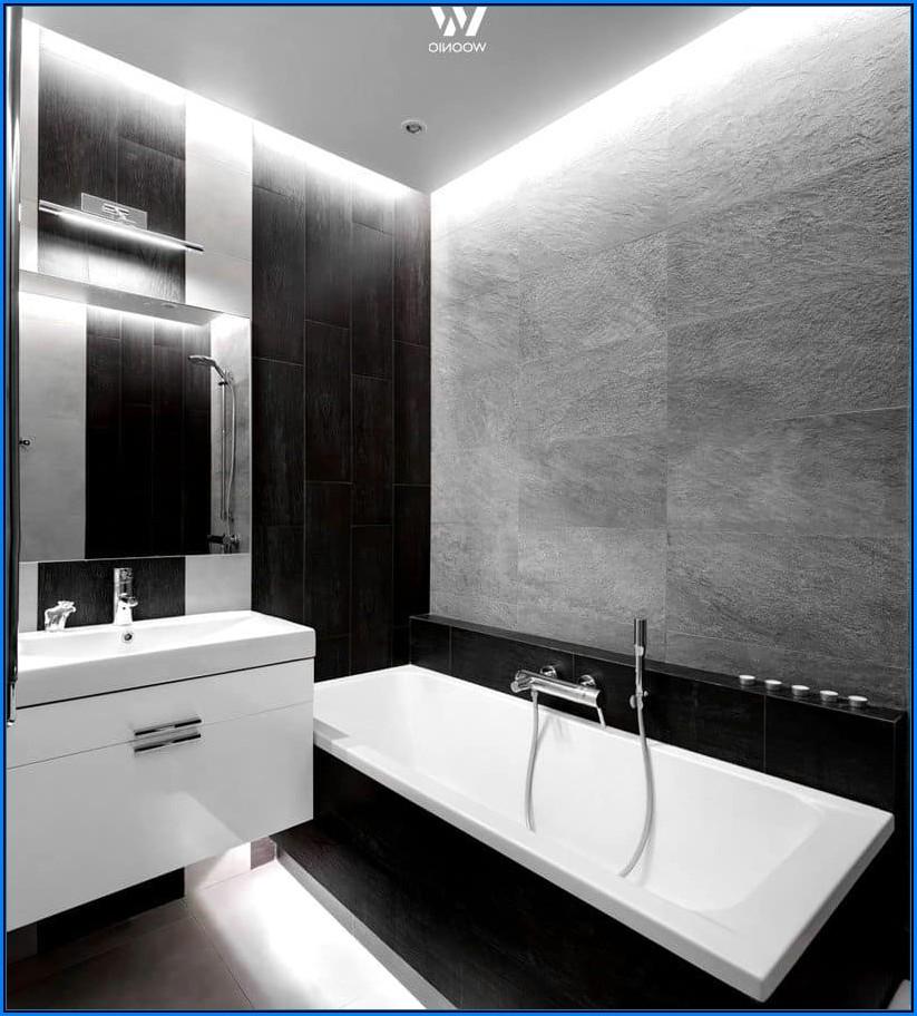 Bilder Badezimmer Schwarz Weiß